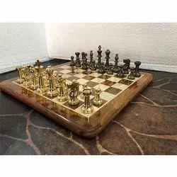 Brass International Chess Set