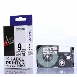 Casio Label Cassette Black on White 9mm XR-9WE 100% Compatible Label Tape for Casio Label Printers