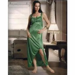 Leaf Green Ladies Designer Nighty