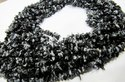 Natural Black Snow Flake Obsidian Uncut Chip Beads 4 To 7mm Strands 34 Inches.