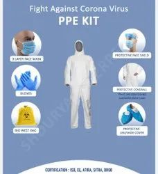 SITRA,DRGO,ATIRA,CE & ISO Certified PPE Kit 80-20 Gsm