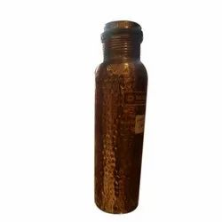 1 Litre Screw Cap Hammered Copper Water Bottle