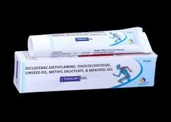 Diclofenac diethylamine, Thiocolchicoside, Methyl salicylate,Linseed oil & Menthol Gel
