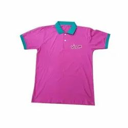 Cotton Designer Polo Neck T Shirt, Packaging Type: Packet