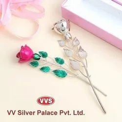 Color Coated Decorative Silver Rose