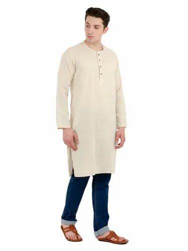 b1a3cbaad Skavij Mens Casual Kurta Shirt Long Sleeve Button Down Dress Relax Fit  Cotton Long Kurta Off