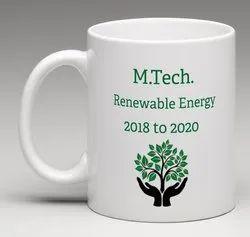 White Coated Mugs