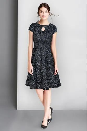 Knitting Strachable Party Wear Women Skater Western Dresses Rs 349 Piece Id 22058725897