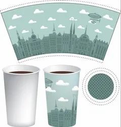 Multicolor Paper Cup Blanks (Printed)