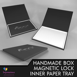 Handmade Box with Magnetic Lock And Inner Tray