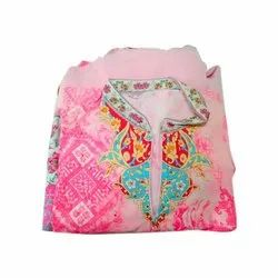 Pink Ladies Printed Cotton Suit