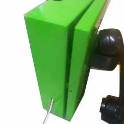 Green Landline Connection Visiontek Coin Phone, For Office