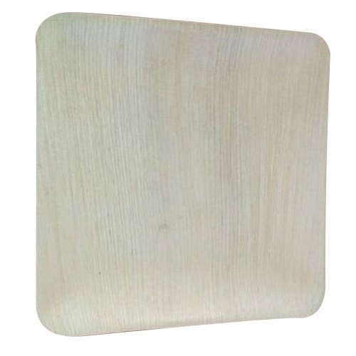 Plain Square Shape Areca Tray, 50 Pieces Per Pack, for Event and Party Supplies
