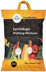 HDPE Rectangular Fertilizer Packaging Bag, Storage Capacity: 5 Kg