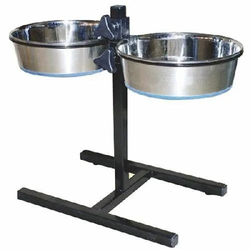 Superpet Stainless Steel Dog Double Dinner Set Bowl