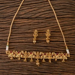 Antique Gold Plated South Indian Necklace 202225