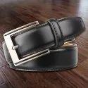 Black Profile Leather Belt