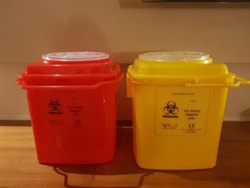 Medical Sharp Disposal Plastic Container