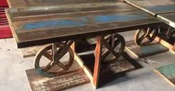 Vintage Wedding Buffet Table in Reclaimed Wood Furniture for Buffets, Banquets and Events