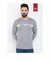 Define Mid_grey Round Neck T Shirt