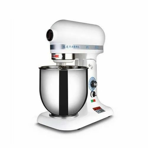 Automatic Stainless Steel 7 L Planetary Mixer, 220V, 0.3kW