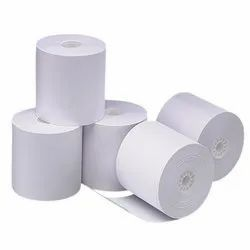 10 White Plain Paper Rolls, GSM: Less than 80 GSM, Packaging Type: Roll Form