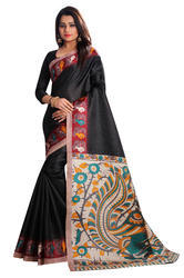 Printed Kalamkari Silk Saree