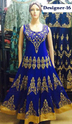 Georgette Blue Designer Anarkali Stone Work Ladies Suits