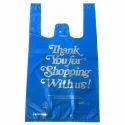 Hdpe Blue T-shirt Type Printed Carry Bag