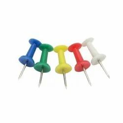 Plastic and Stainless Steel Color Board Pin, Size: Approx. 0.87x0.35x0.35 inch