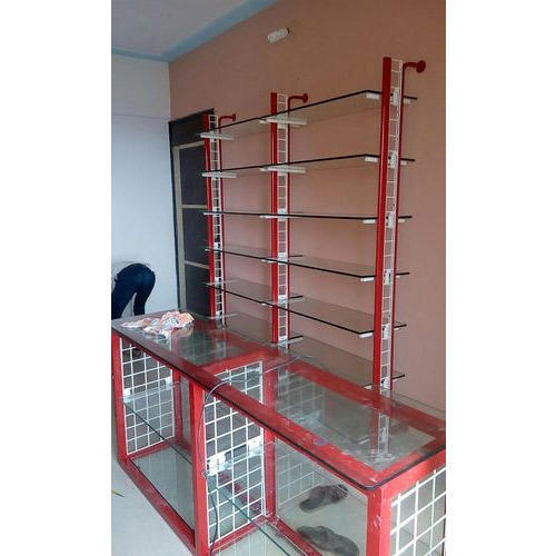 661f470a4c Shop Display Rack - Stainless steel Glass Rack Manufacturer from Mumbai