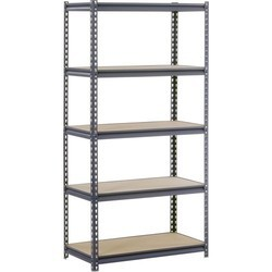 8-10 Feet MS Slotted Angle Rack, For Material Storage, For Warehouse