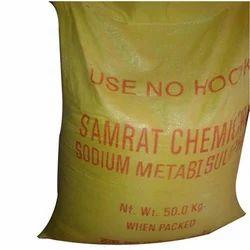 Antioxidants Plastic Sodium Meta Bi Sulphate, Packaging Type: bag, 50kg