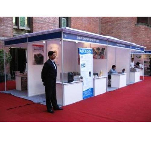 White Exhibition Stall : Octanorm exhibition stall dg ads