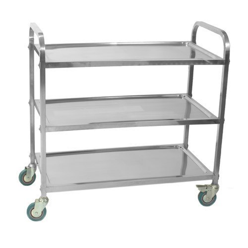 Silver Polished Stainless Steel Trolley