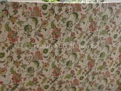 Floral Print Kantha Work Bedspread