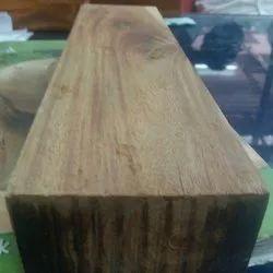 8 Ft Natural Kerala Vengai Wood Block, Thickness: 40 Mm, Matte