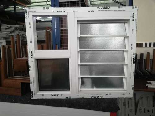 BROWN And MAHOGANI LOUVER WINDOW FAN WITH FIXED