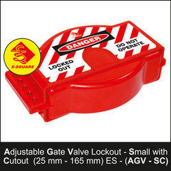 Adjustable Gate Valve Lockout With Cutout