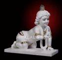White Marble Laddu Gopal Statue