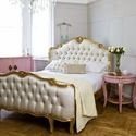 Masa Gaia Golden White French Style Bedroom Set, For Home, Hotel, Size: 20 X 40 X 42 Cm