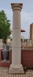 Polished Pillars of Marble, Granite and Sand Stone