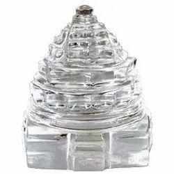 Kesar Zems Crystal Clear Glass Sphatik Shree Yantra - 100 Grams