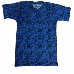 4 Way Lycra Printed Mens Round Neck T Shirt, Size: M-xxl