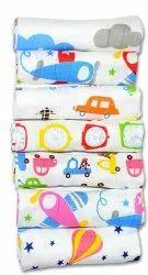 Multicolor Printed Baby Cotton Napkin, Size: 11x11 Inch