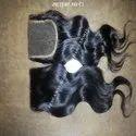 No Chemical Closure Wavy Virgin Remy Human Hair