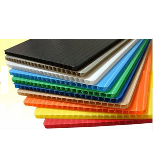 Multicolor Corrugated Plastic Sheets, Size: 79