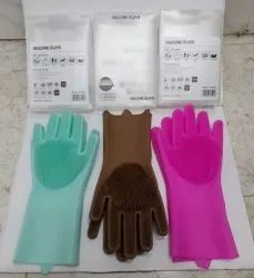Silicon gloves rubber