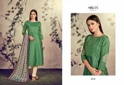 Green Ethnic Kurti with Dupatta
