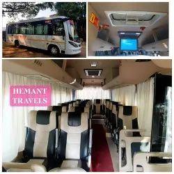 Luxury Coach Rental Service, Maharaja Seat with mobile Charger on Every Seat